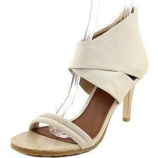 Donald J Pliner Tilly Women Open-Toe Canvas Ivory Heels
