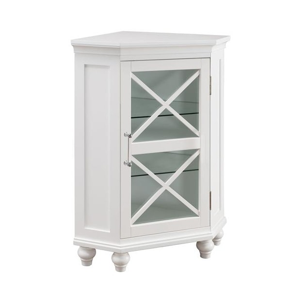 Elegant Home Fashions ELG 631 Blue Ridge Corner Floor Cabinet In White