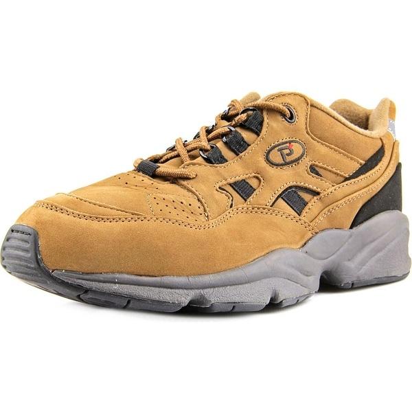 Propet Stability Walker Men 2A Round Toe Leather Brown Walking Shoe