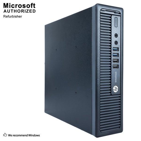 HP 800G1 USFF Intel i5-4570S 2.90GHz, 8GB RAM, 120GB SSD, DVD, WIFI, BT 4.0, HDMI Adapter, VGA, DP, WIN10P64(EN/ES)-Refurbished