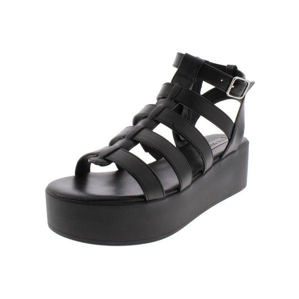 ac7264233 Shop Steve Madden Womens Devilish Platform Sandals Faux Leather ...