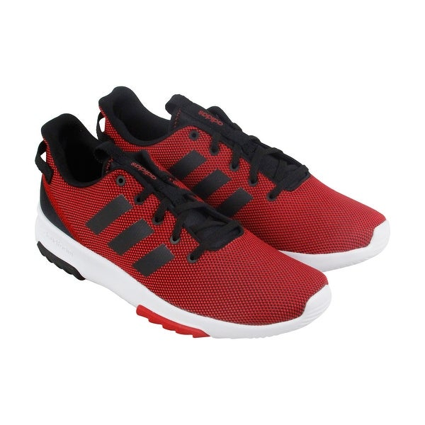 Adidas Cf Racer Tr Mens Red Nylon Athletic Lace Up Running Shoes