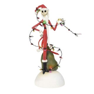 Nightmare Before Christmas Jack Tangled in Lights Figurine - multi
