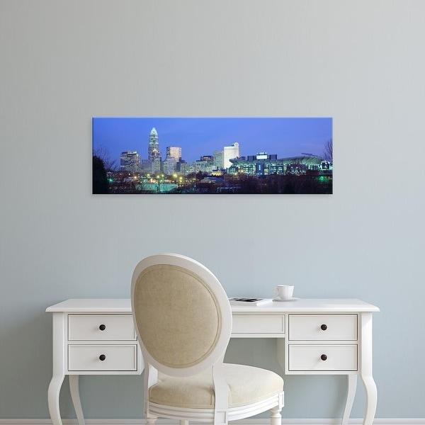 Easy Art Prints Panoramic Images's 'Charlotte NC' Premium Canvas Art
