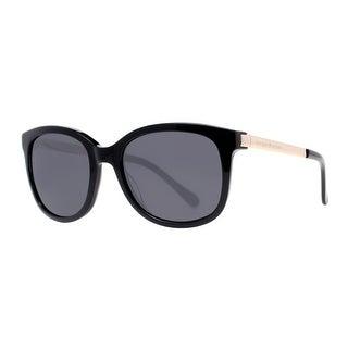 KATE SPADE Oval Gayla/S Women's 807 BN Shiny Black/Gold Gray Sunglasses - 52mm-19mm-130mm