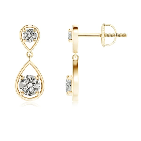 Angara Two Diamond Earrings in White Gold YxlxO9nwBk