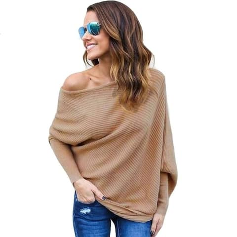 Sexy Off-The-Shoulder Knit Sweater Top