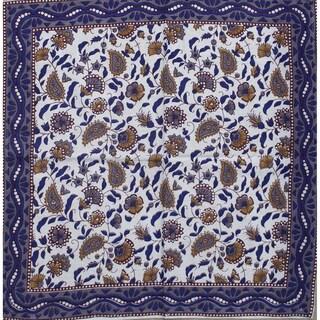 Cotton Dinner Napkins Thanksgiving Napkins Paisley Floral Elephant 19 x 19 inches Beige Blue Purple