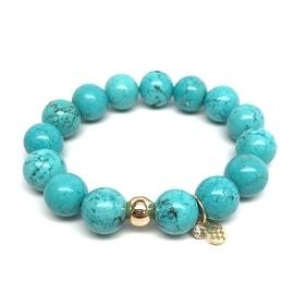 Turquoise Magnesite 'Lauren' Stretch Bracelet, 14k over Sterling Silver