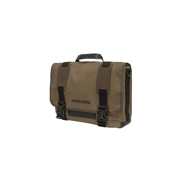 "Mobile Edge MEUME9 Mobile Edge ECO Carrying Case (Messenger) for 15"" Notebook, MacBook Pro, Tablet, iPad, Ultrabook - Olive"