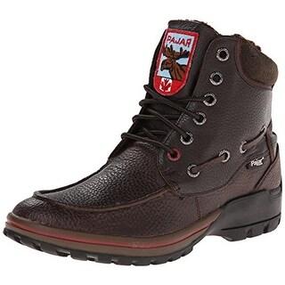 Pajar Mens Bolle Leather Faux Fur Snow Boots - 10-10.5 medium (d)