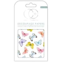 "Craft Consortium Decoupage Papers 13.75""X15.75"" 3/Pkg-Kaleidoscope Of Butterflies"
