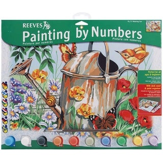 """Paint By Number Kit 12""""X16""""-Watering Can"""