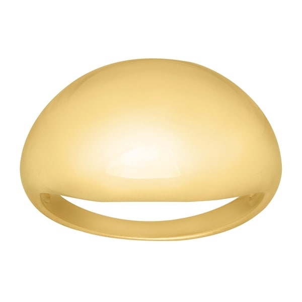Just Gold Polished Dome Ring in 14K Gold - Yellow