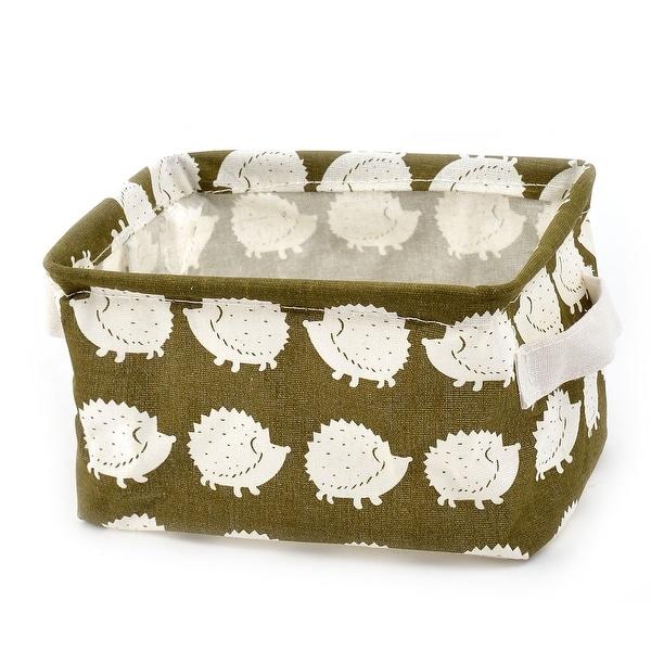 Household Fabric Hedgehog Pattern Makeup Storage Bin Basket Closet Box Container