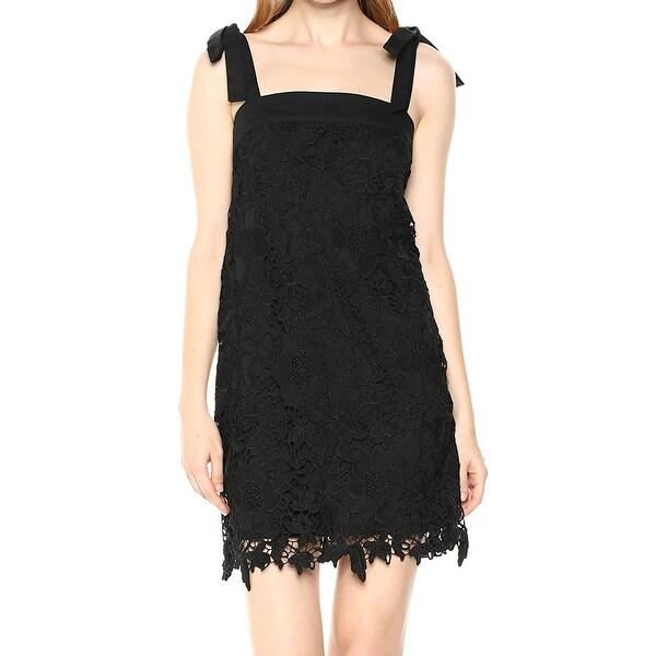 b900724b12 Kensie Black Bold Garden Floral Lace Women  x27 s Size XS Shift Dress