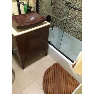 Bare Decor Dania Spa Teak Corner Bath and Shower Mat