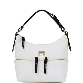 Dooney & Bourke Dillen Small Zipper Pocket Sac (Introduced by Dooney & Bourke at $238 in Dec 2012) - White Black