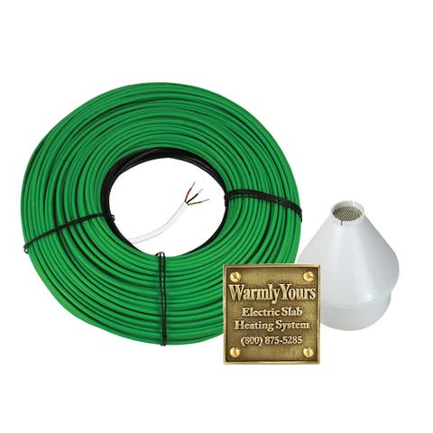 Embedded Electric Snow Melting Kit with 85.5' Heating Cable (240V) and Automatic Control - 86'