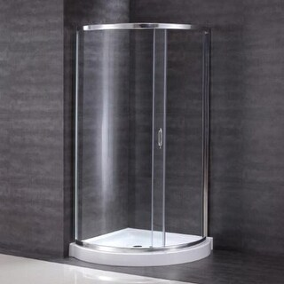 "Miseno MSD3178 78"" High x 31"" Wide Framed Shower Door Enclosure for Corner Installations - Acrylic Shower Base Included"
