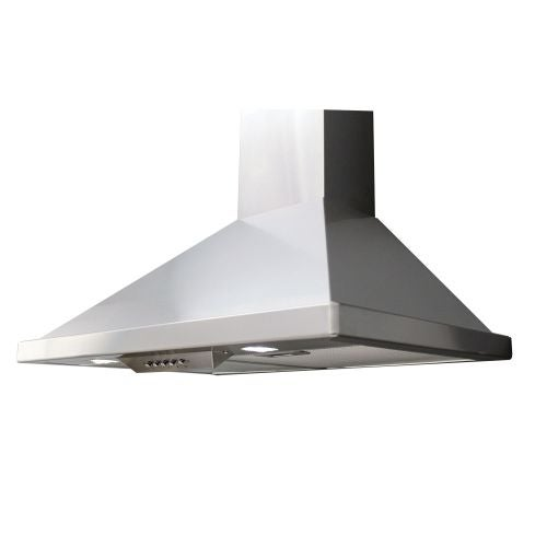 Miseno MH00136CS 750 CFM 36 Inch Stainless Steel Wall Mounted Range Hood with Du