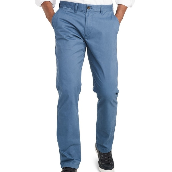 Tommy Hilfiger Mens Chino Pants Bayhead Dusty Blue Size 40x30 Custom Fit. Opens flyout.