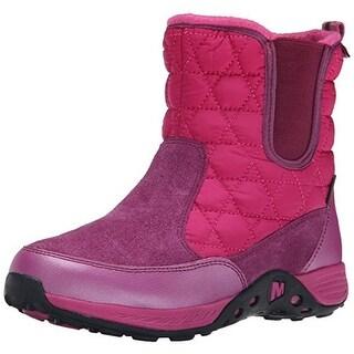 Merrell Girls Suede Waterproof Snow Boots - 6 medium (b,m)