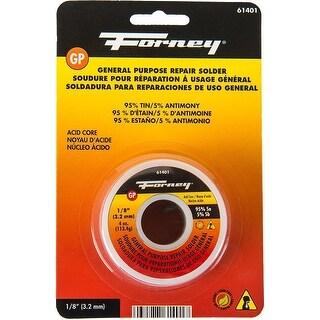 """Forney 61401 Lead Free Acid Solder, 1/8"""", 4 Oz"""