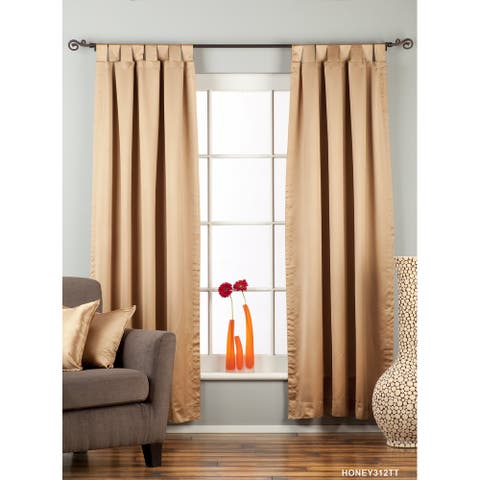 "Taupe Tab Top 90% blackout Curtain / Drape / Panel - 50X84"" - Piece - 50 X 84 Inches (127 X 213 cms)"