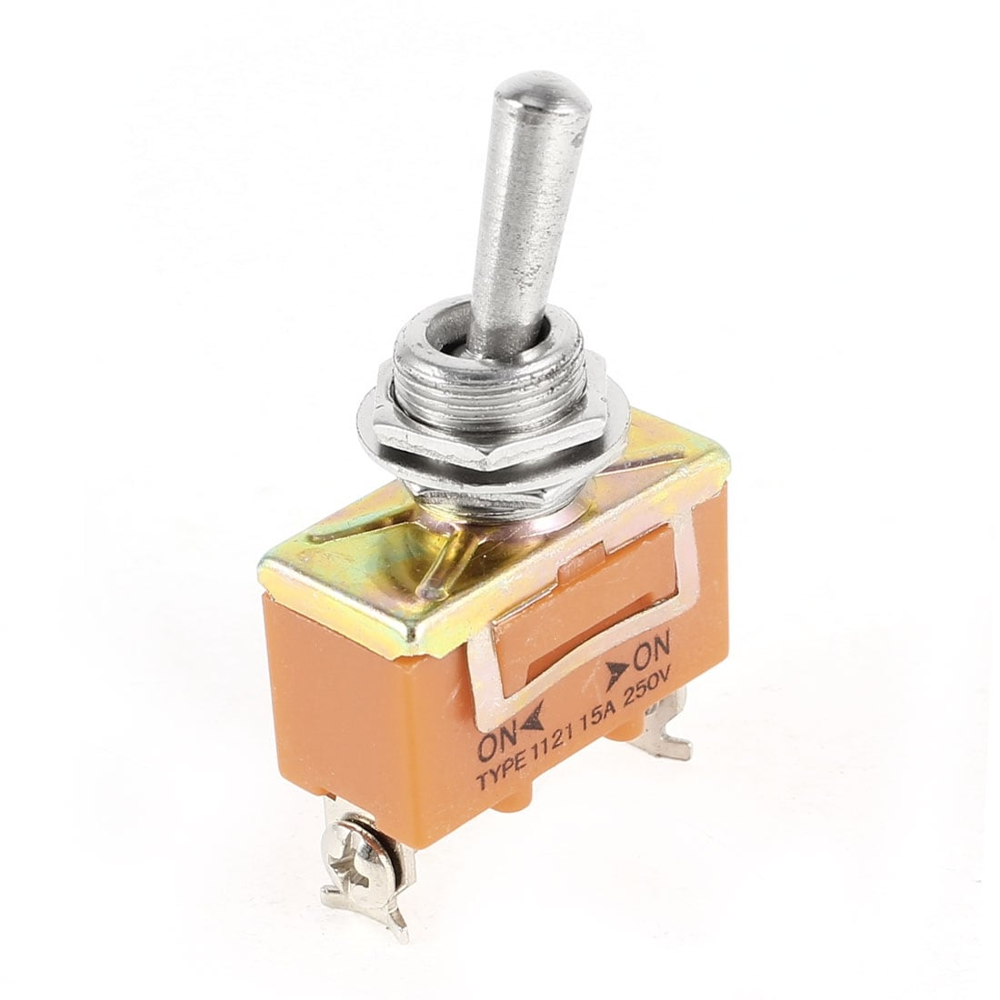 5x DPDT ON//ON 2 Positions 6 Screw Terminal Toggle Switch AC 250V 15A New