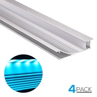 4 PACK 3.3ft Wall Mount LED U-shape Aluminum Channel for LED Strip Light
