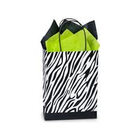 "Pack of 25, Cub Zebra Recycled Paper Bags 8.25 X 4.25 X 10.75"" 100% Recyclable, Made In Usa"
