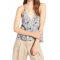 ASTR NEW Blue Floral Printed Women's Size XS V-Neck Camisole Blouse