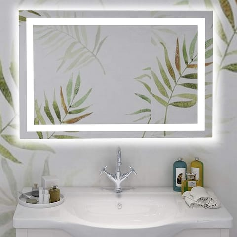 Vanity Art 39-Inch LED Lighted Illuminated Bathroom Vanity Wall Mirror with Touch Sensor on Front