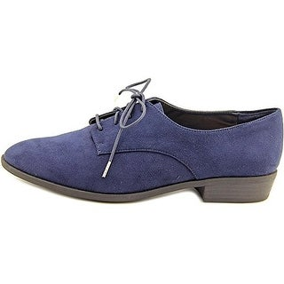 Bar III Women's Gelsey Lace Up Oxford Flats