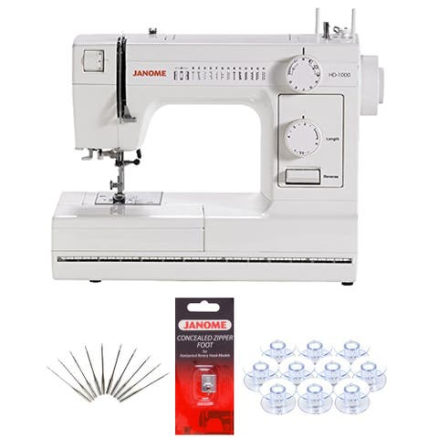 Janome HD1000 Heavy-Duty Sewing Machine w/ Free Bonus Package!