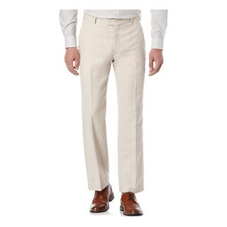 Perry Ellis Portfolio Mens Dress Pants Linen Blend Classic Fit