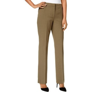 Kasper Womens Petites Kate Dress Pants Classic Fit Straight Leg