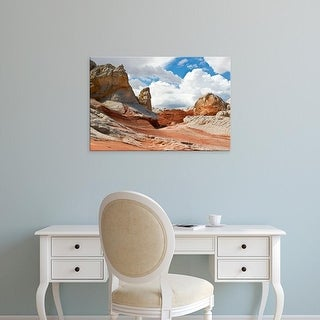 Easy Art Prints Charles Crust's 'Red And White Sandstone Formations At White Pocket' Premium Canvas Art