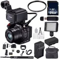 Canon XC15 4K Professional Camcorder #1456C002 (International Model) + 64GB SDXC Class 10 Memory Card + Condenser Mic Bundle