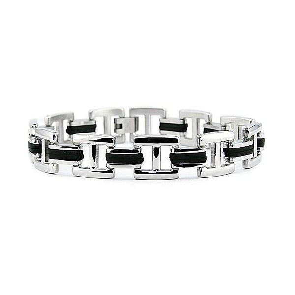 Stainless Steel Biker Bracelet - 8.5 inches