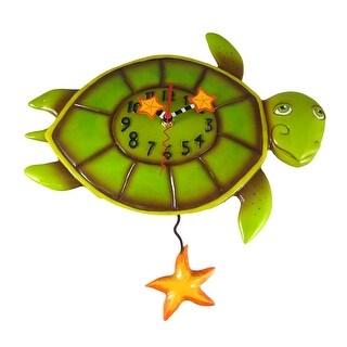 Allen Designs Shelldon Turtle Pendulum Wall Clock