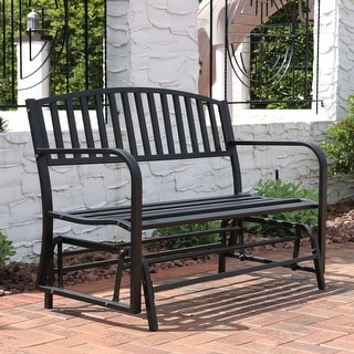 Black Outdoor Benches   Shop The Best Deals For Aug 2017   Overstock.com