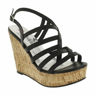 Red Circle Footwear 'Anais' Strappy Cork Wedge