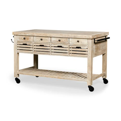 Mercana Columbia Wood Kitchen Island