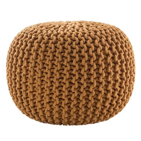 Olsen Textured Round Pouf