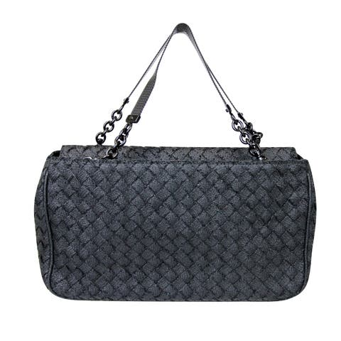 93de8b790 Bottega Veneta Intrecciato Black Fabric Tote Evening Bag 309349 1000 - One  size