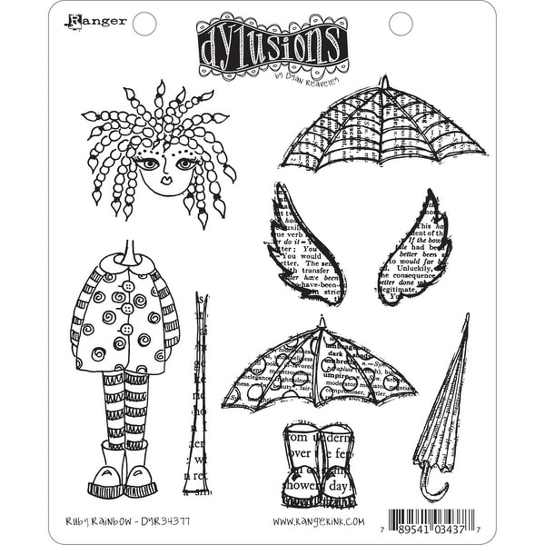 """Dyan Reaveley's Dylusions Cling Stamp Collections 8.5""""X7""""-Ruby Rainbow"""