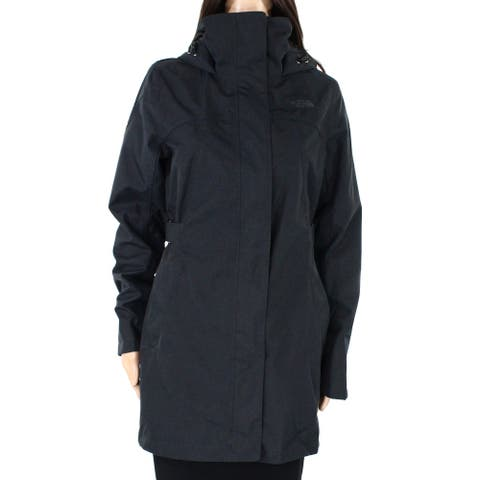 The North Face Womens Laney Trench II Coat Gray Size Medium M Hooded