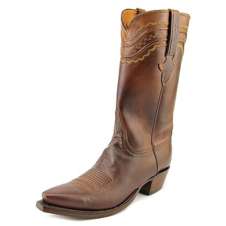 Lucchese Tn Burn Ranch Men Square Toe Leather Brown Western Boot